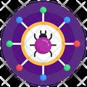 Network Threat Network Virus Network Bug Icon