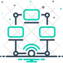 Networking Multicast Cyber Icon