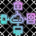 Cloud Data Internet Icon