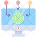 Information Flow Networking Business Icon