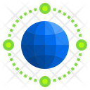 Networking Earth World Icon