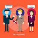 Networking Business Communication Icon