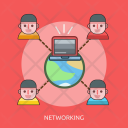 Networking Technology World Icon