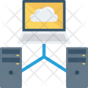 Networking Pcsharewithserver Serversharewithlaptop Icon
