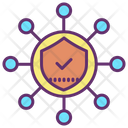 Networking Security Secure Network Shield Icon