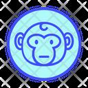 Neutral Emoticon Face Icon