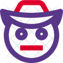 Neutral Face Cowboy Icon