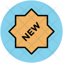 New Label Sign Icon