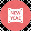 New Year Sticker Icon