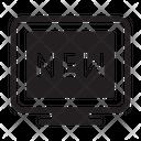 New New Sticker New Barnd Icon