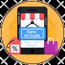Mcommerce New Arrivals Eshopping Icon