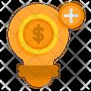 New Money Idea Finance Idea Add More Idea Icon