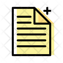 New Paper Add Paper Add Document Icon