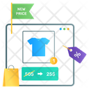 Shopping App New Discount Online Buying Icon
