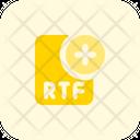 New Rtf File Rtf File Add Rtf File Icon