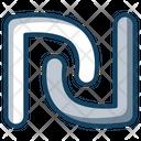 New Shekel Shekel Sign Shekel Symbol Icon