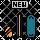 New Skateboard Skates Skateboard Icon