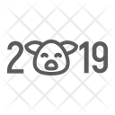 Pig New Year Icon