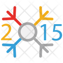 New Year Snowflake Icon