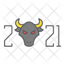 New Year Bull Icon
