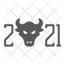 New Year Bull Icon