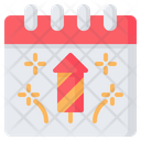 New Year Happy Fireworks Icon