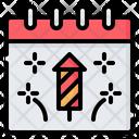 New Year Happy Fireworks Icon