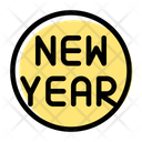 Circle New Year Icon