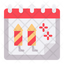New Year Rocket Date Icon