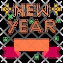 Bow Ribbon New Year Icon