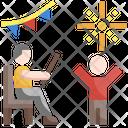 New Year Confetti Celebration Icon
