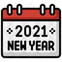 New Yea Schedule Calendar Icon