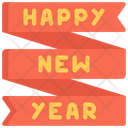 New Year Banner Celebration Holidays Icon