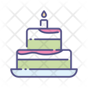 New Year Cake Cake Celebration Icon