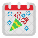 New Year Birthday Calendar Icon