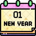 New Year Calendar New Year Calendar Icon