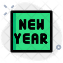 Square New Year Icon