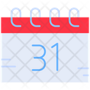 New Year Day End Of Month 31 Icon