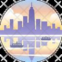 York America Cityscape Icon