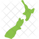 New Zealand Map Icon