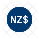 New Zealand Dollar Banknote Country Icon
