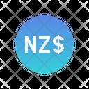New Zealand Dollar Icon