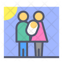 Newborn Baby Family Icon