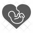 Newborn Heart Love Icon