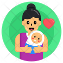 Neonate Newborn Baby Motherhood Icon