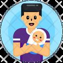Neonate Fatherhood Father Love Icon
