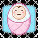 Newborn Girl Smile Icon
