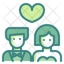 Newlyweds Bride Groom Icon