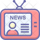 News Broadcast Newsreader Icon