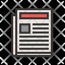 News Paper Media Icon